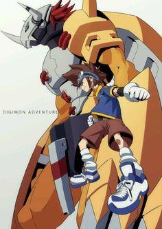 Digimon Adventure - WarGreymon and Tai