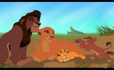 aww so cute in my opinion Lion King two is the best Disney sequel and look at the cute cubs they could have