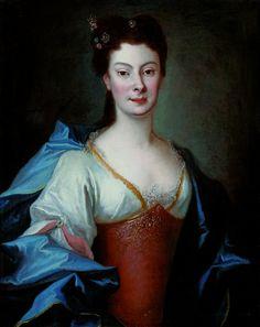 Portrait of Anna Orzelska by Louis de Silvestre, 1724 (PD-art/old), Muzeum Łazienki Królewskie (MLK)