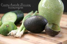 Creamy Avocado Dressing - Vegan, sub agave for honey