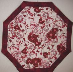 Valentine's Day quilted table topper / by KellettKreations on Etsy, $24.00