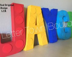 Lego Letters Lego Birthday Lego Baby Shower by LetterTownBoutique