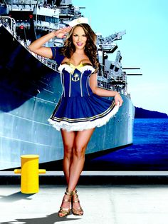 Sexy Navy Pin Up Sailor Costume #halloween  - Salute Our Veterans by Supporting the Businesses of www.VeteransDirectory.com and Hiring Veterans. Post Jobs at www.HireAVeteran.com