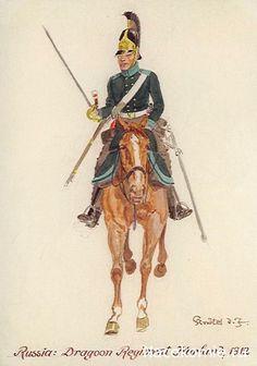 RUSSIA - Dragoon Regiment Houlans, 1812