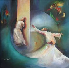 Jale Saraçoğlu-1954-İstanbul/TÜRKİYE Whirling Dervish, Daughters Of The King, Nautical Art, Spiritual Jewelry, Foto Art, Custom Jewelry Design, Painting Lessons, Sufi, Islamic Art