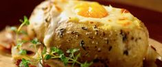Potato Filled with Cheese Soup and Egg Yolk in a Bean and Pancetta Sauce | Wisconsin Milk Marketing Board