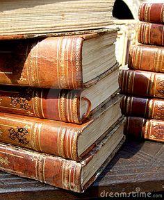 Stack of old books by Ucebistu, via Dreamstime