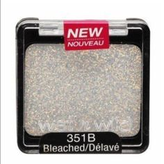 wet n wild glitter single bleached wet n wild glitter single bleached, Intensify your look with one swipe of these all NEW glitter cream shadows. Infused with Aloe and Coconut Oil, these shimmering glitters with a clear base, glide on and never over dry. Each glitter shade is long wearing and crease resistant to keep you looking flawless for hours. Wear alone or mix and match to instantly transform your look from ordinary to fabulous! Net Wt. 0.05 oz Poids net 1.4 g Makeup