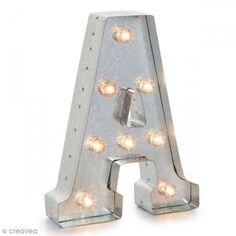 Letra luminosa en metal vintage A - 25 x 19 x 4,5 cm…