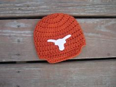 Newborn Texas Longhorns baby cap,crochet baby cap,boy cap,baby girl beanie Texas Longhorns hat photo prop shower gift by Etvy on Etsy