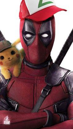 Deadpool x Pikachu, Jessica Perez Deadpool Pikachu, Deadpool Art, Deadpool Funny, Pikachu Art, O Pokemon, Deadpool Wallpaper, Avengers Wallpaper, Digimon, Superhero Poster
