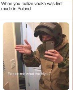 Excuse me what the blyat? Crush Memes, Dark Humour Memes, Dankest Memes, Disney Memes, Really Funny Memes, You Funny, Stupid Memes, Stupid Funny, Polish Memes