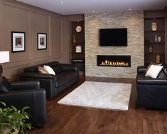 Liner Gas Fireplaces Design, Pictures, Remodel, Decor and Ideas - page 68: For the basement