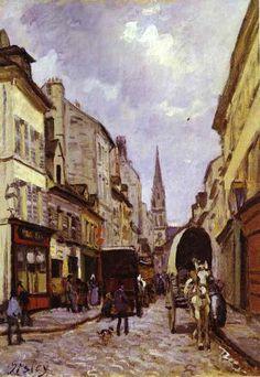 "alfred sisley   Alfred Sisley : "" La Grande Rue à Argenteuil "" 1872 Huile sur toile ..."