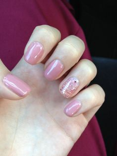 Love my manicure . Perfect match gel polish in mockingbird and techno pink beat