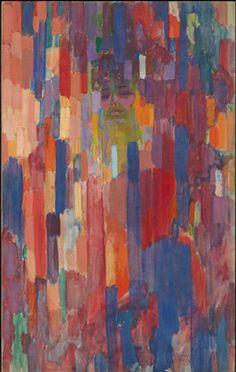 František Kupka, Mme Kupka among Verticals, 1910-11 on ArtStack #frantisek-kupka-1 #art