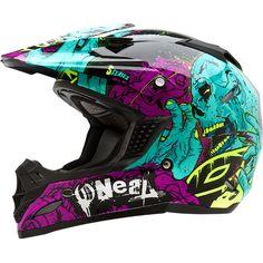 Sick purple zombie helmet