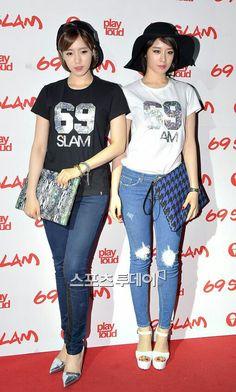 T ara Eunjung and Jiyeon fashion