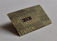 Laser Cut Business Card by dailypoetics, via Flickr