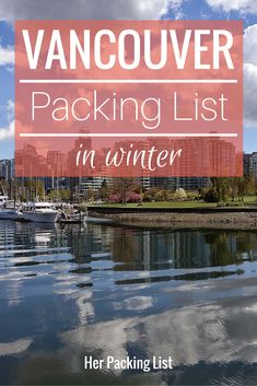 vancouver packing list in winter