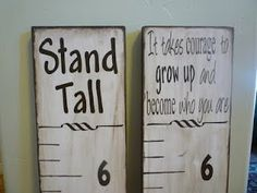 Very cool...would love to have one of these to track kiddos' growth... Custom Woodworking, Woodworking Projects Plans, Teds Woodworking, Growth Chart Ruler, Growth Charts, Measuring Stick, Measuring Chart, Relief Society Activities, Diy Cutting Board