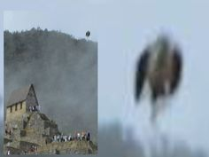 "PERU ""MAN BIRD"" UFO ACTIVATES VOLCANIC EXPLOSION!!? CRAZY FOOTAGE! CA. Mile WIDE Flying Saucer!"