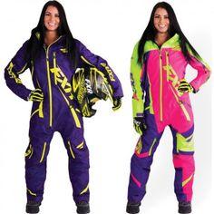 FXR Racing Maverick Geo Womens Skiing Snowboard Sled Snowmobile Monosuit