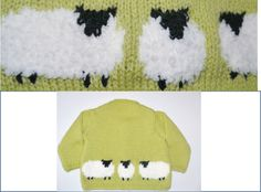 Knitting Pattern for Child's Sheep Jumper from www.iKnitDesigns.com