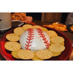 Baseball cheese ball...awesome for a World Series party!