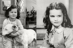 a tiny Vivian Leigh and Cammie King who played Scarlett's daughter