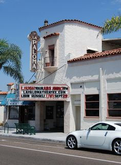The La Paloma Theatre is located in Encinitas, California, and is truly one of the hidden gems of the San Diego area. Upon walking through this movie theatre, guests will feel as if they've been transported back in time, which makes sense considering this theatre has been in operation since 1928. It actually has the distinction of being one of the first theatres to make the switch from showing silent film to talkies