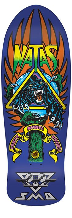 SMA Old School Natas Panther 3 Re-Issue Deck Skateboard