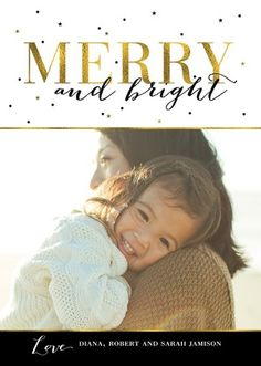 Golden Holiday - Flat Holiday Photo Cards - Magnolia Press - Black : Front
