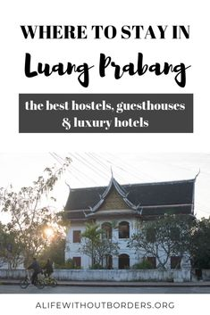 Wondering where to stay in Luang Prabang, Laos? This round-up of Luang Prabang hotels, hostels and guesthouses has something for every budget and taste Laos Travel, Asia Travel, Travel Tips, Budget Travel, Things To Do, How To Memorize Things, Beach Trip, Beach Travel, Vientiane