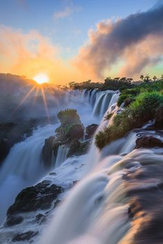 ☀Iguazu Falls Argentina, top of my travel list! Beautiful Waterfalls, Beautiful Landscapes, Places To Travel, Places To See, Beautiful World, Beautiful Places, Beautiful Sunset, Jolie Photo, Nature Pictures