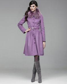 1a12517f987 Зимнее пальто с декоративными складками на талии. Модный дом Ekaterina  Smolina. Пальто
