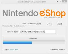Nintendo eshop card codes generator