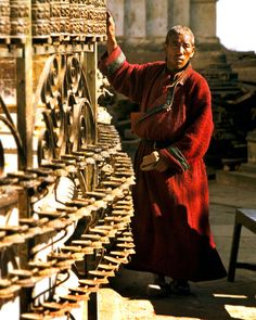 spinning the prayer wheels