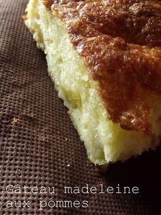 Gâteau madeleine aux pommes - Les délices de laetitia