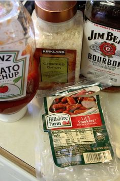 Crock Pot Bourbon Lit'l Smokies ... I used to eat these like candy when I was younger! 8-)