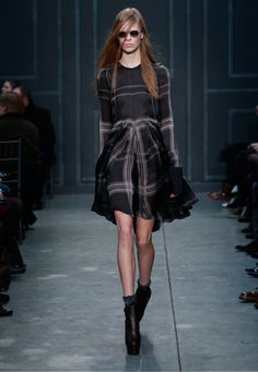 Classic lines with modern details.  Designer Clothing, Accessories, Women's Apparel by Vera Wang | Fall 2014