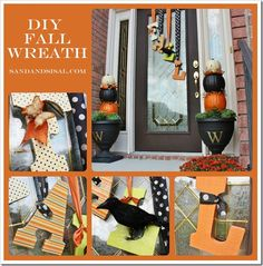DIY Wreath -Fall door decor