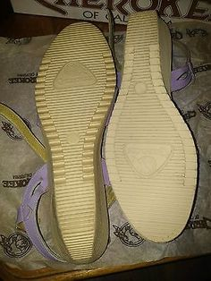 New Never Worn 80's Vintage Cherokee Of California shoes NOS lilac sandals sz 7