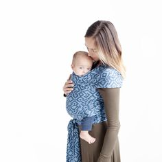 318fff5e8b3 Moby Wrap Petunia Pickle Bottom Baby Wrap Carrier - Mazes of Milano Indigo