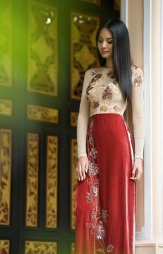Unique Vietnamese Dress Ao Dai  O Di Vietnam National Costume