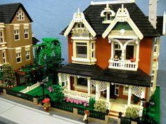 Eastlake Victorian Home: A LEGO® creation by Boise Bro : MOCpages.com
