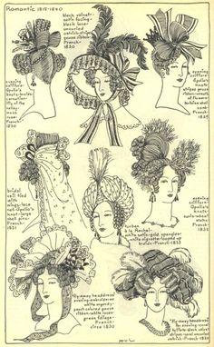 1815-1840 hats & hair