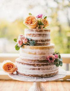 20 Rustic Wedding Cakes for Fall Wedding 2015 Fall Wedding Cakes, Wedding Cake Rustic, Mod Wedding, Dream Wedding, Wedding 2015, Autumn Wedding, Bohemian Wedding Cakes, Party Wedding, Trendy Wedding