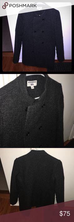 Uniqlo wool coat From the ines de la fressange collection. Worn just 1-2 times and in amazing condition. Like new! Color is a dark charcoal gray and the jacket is very warm Uniqlo Jackets & Coats