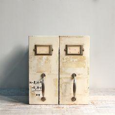 Vintage Industrial File Drawer Shelf via Etsy.